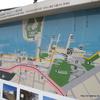 遊歩道を含む地図