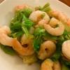 Fried shrimp ginger sauce