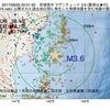 2017年08月22日 20時01分 宮城県沖でM3.6の地震