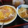 鶴瀬【福の家】ラーメンセット ¥750