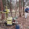 地盤調査立会い、伐採樹木の打合せ