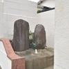 民家の玄関先にまつられる二基の庚申塔 福岡県福津市西福間