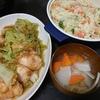 ダッカルビ風チキン、ポテトサラダ、味噌汁