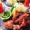 黒酢で柔らか鶏もも肉の黒酢唐揚げ