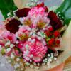 自分の誕生日は、母に花束を送る