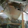 1971 マスタングマッハ1 リヤウインドウビームの錆落とし2