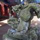 「逆さ狛犬」諏訪神社