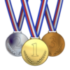 娘さん 金メダル、息子さん 首メダル。。。(어머니의 운명은....)