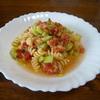 キュウリのパスタ①トマトソース