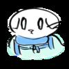 ネックゲーターを付けた猫の無料イラスト
