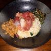 【wacca】関目で頂く海鮮スパイス混ぜ飯は新しい組み合わせ。ウニホウレン飯と無水鯖、海鮮漬け、山形出汁の相性は抜群。