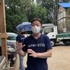 太陽光温水器の日本エコルさんに現場を見てもらった。