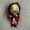 娘と一緒に100円ドールで「鬼滅の刃」の竈門禰豆子(かまどねずこ)作ってみたよ。