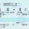 くびき野5号 普通列車用グリーン券