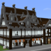 「マイクラPE」港町に商店を建てる。