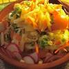 ✴︎ そうめん瓜とパイナップルとトマトのサラダ再び、そうめん瓜のチーズ焼き、焼きパイナップル、焼き海老ココナツ風味、その他