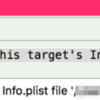 The Copy Bundle Resources build phase contains this target's Info.plist file 'Info.plist'. のWarningのエラーが出た時の対処法