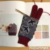 編み込み手袋、編み始めました(*^^*)
