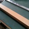 アルミパイプに、木目調シート貼り