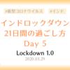 【ロックダウン記録】ロックダウン5日目 ~4日連続の外出をインド人の友人に注意された日~