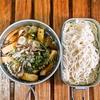 マイタケ汁温麺を食べながら今後を予想する