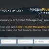 1泊4,000マイルゲット!ユナイテッド航空Rocketmilesで3,000マイルのボーナス特典マイルを獲得できます!