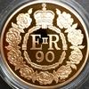 イギリス5ポンド金貨 エリザベス生誕90周年 製造番号209番 ロイヤルミントの美しい木箱入り
