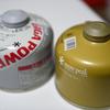 スノーピークのガス缶のデザインが変わってる