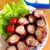 【お弁当に】豚肉チーズ巻きのケチャップ炒め