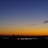 8月5日の夕景 & 青空にキラリ! 金星