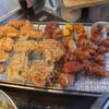 幸運な病のレシピ( 1727 )昼 :鳥カツ、モモ唐揚げ、玉ねぎ天ぷら、カボチャ素揚げ、小松菜うどん