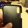【レビュー】RAKUNI 本革背面フリップケース(iPhoneX用)の劣化具合を確認する(連続使用47日目)