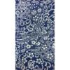 着物生地(62)本藍切りばめ風花更紗模様上代紬