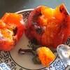 「ウメモドキ(梅擬)」、赤い実に黄葉。