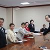 27日、12月議会に向けた知事申し入れ。台風災害の被災者支援の取り組み等を要望。