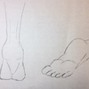 足首から下の足を描く!練習2
