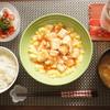 卵と豆腐のチリソースが甘辛ふわとろだった(^-^)