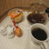 今回のコーヒーはブラジル(中煎り)~お茶請けは焼きプリン~