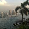 シンガポール24:「夜のインフィニティプール」と「朝のインフィ二ティプール」