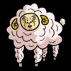 かわいい羊 のイラスト