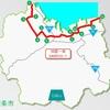 四国一周1000キロルート <西条市走行区間>