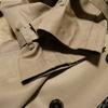 トレンチコートの袖の擦り切れを修理