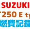 【SUZUKI ST250E】燃費記録