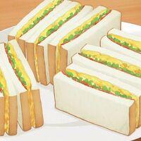 #04 春野菜とベーコンのサンドイッチ