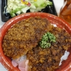 ソースカツ丼と海老とアボカドポティマカディッシュ