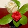 今日のコラムは2本立て。①バラを綺麗に折るコツ ②天才トラブルメーカー義母の「シュシュなくした事件」