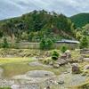金石城庭園の心字池(長崎県対馬)