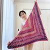 手編みの三角ショール(かぎ針)バレエ&ヨガの羽織にも granny shawl