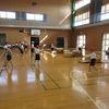 2年生:体育 いろいろな跳び方で跳び箱練習
