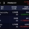 2019年7月13日時点の保有資産の状況。ソラストが1100円台まで回復。米国株は新規で2銘柄を追加。